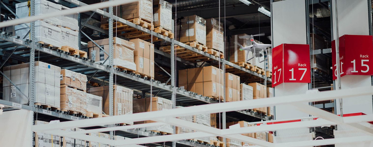 Cycle Counting Inventory in Warehouses Using Autonomous Drone Fleets