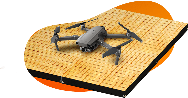 drone charging pad for warehouses