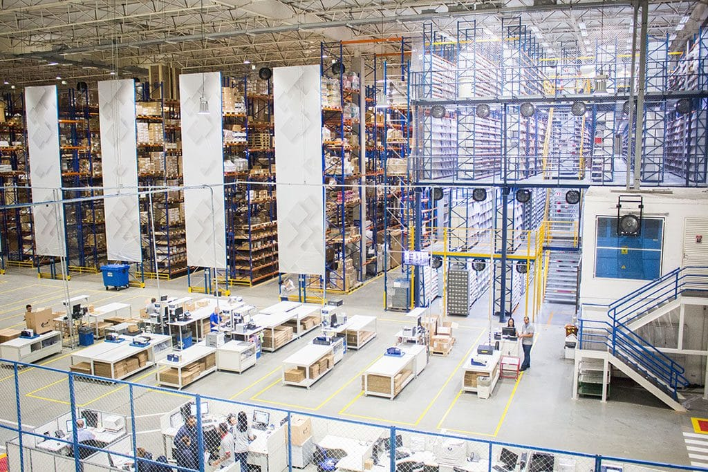 drones in distribution center